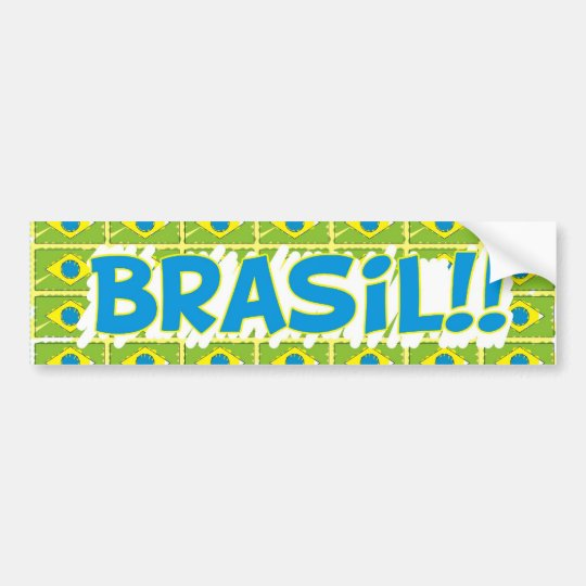 "Adesivo retangular ""Brasil na copa"""