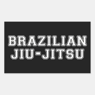 Adesivo Retangular Brasileiro Jiu Jitsu