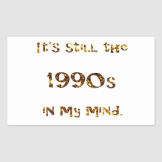 Adesivo Retangular brilho do ouro da nostalgia dos anos 90
