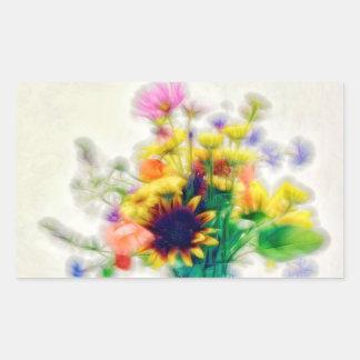 Adesivo Retangular Buquê do Wildflower do verão