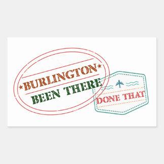 Adesivo Retangular Burlington feito lá isso