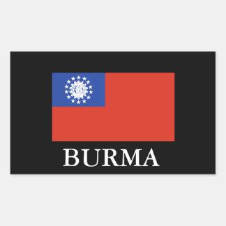 Adesivo Retangular BURMA (bandeira) Sticker1