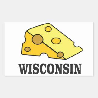 Adesivo Retangular Cabeça do queijo de Wisconsin