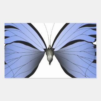 Adesivo Retangular Caçador azul do Azure da borboleta 2