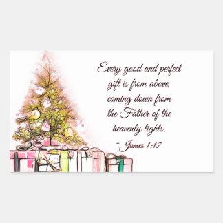 Adesivo Retangular Cada bom e 1:17 perfeito de James do presente,