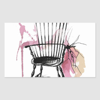 Adesivo Retangular Cadeira de Windsor