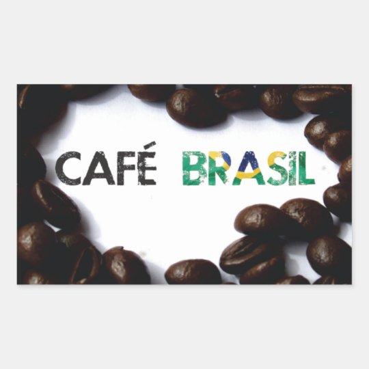 Adesivo Retangular Café Brasil