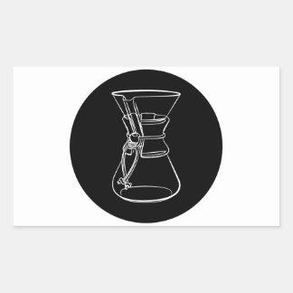 Adesivo Retangular Café de Chemex