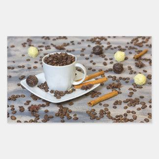 Adesivo Retangular Café e especiarias
