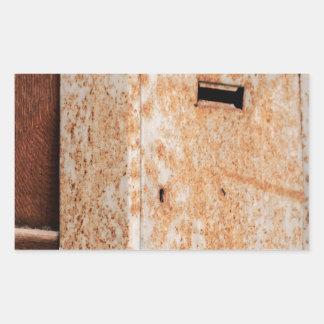 Adesivo Retangular Caixa postal oxidada fora