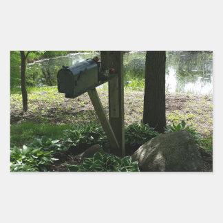 Adesivo Retangular Caixa postal pela lagoa