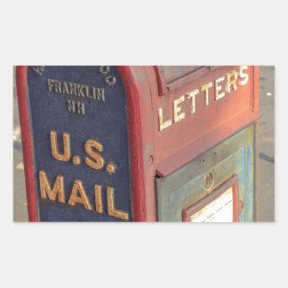Adesivo Retangular Caixa postal velha
