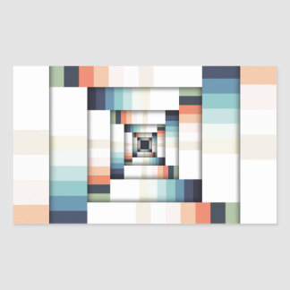 Adesivo Retangular Caixas das cores