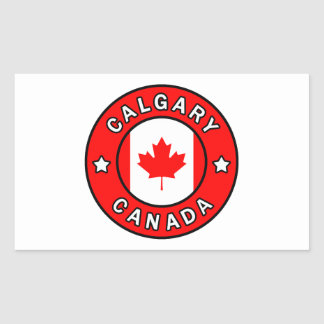 Adesivo Retangular Calgary Canadá