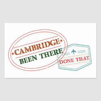 Adesivo Retangular Cambridge feito lá isso