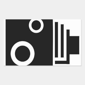 Adesivo Retangular Câmera isolada da velocidade