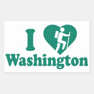 Adesivo Retangular Caminhada Washington