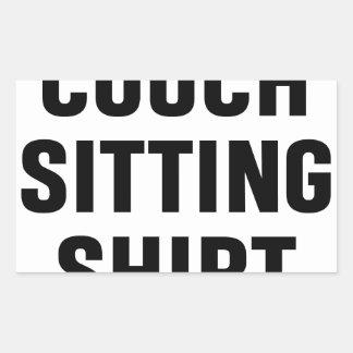Adesivo Retangular Camisa de assento do sofá