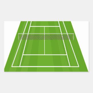 Adesivo Retangular Campo de ténis