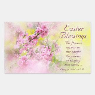 Adesivo Retangular Canção das bênçãos da páscoa da escritura do 2:12