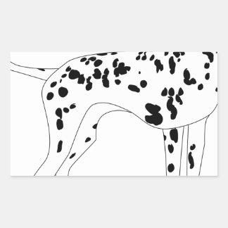 Adesivo Retangular Cão de Dalmation