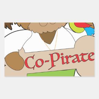 Adesivo Retangular Cão do Co-Pirata