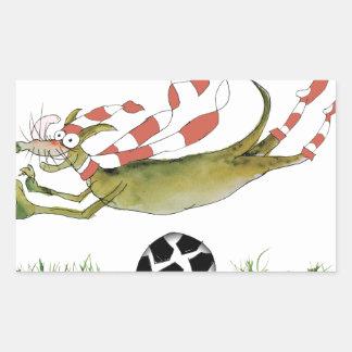 Adesivo Retangular cão do futebol dos vermelhos
