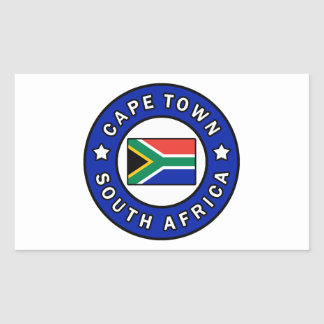 Adesivo Retangular Cape Town África do Sul