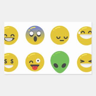Adesivo Retangular Cara feliz de Emoji