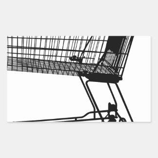 Adesivo Retangular Carrinho de compras