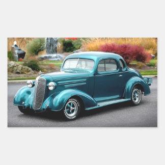 Adesivo Retangular Carro 1936 do clássico de Chevrolet do cupé do hot