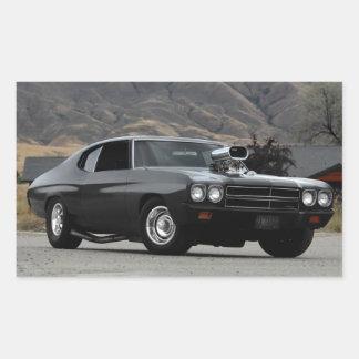 Adesivo Retangular Carro 1970 do músculo do arrasto de Chevy Chevelle