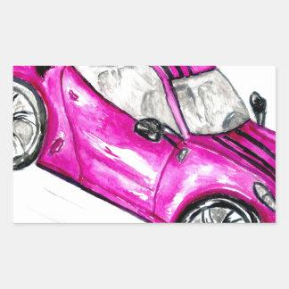 Adesivo Retangular Carro desportivo Sketch2