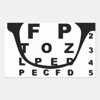 Adesivo Retangular Carta de teste do olho de Blurr