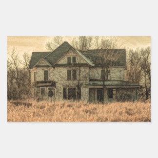 Adesivo Retangular Casa da quinta rústica do país ocidental da