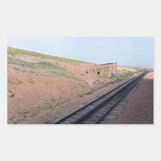 Adesivo Retangular Casa de estação ao longo da estrada de ferro de