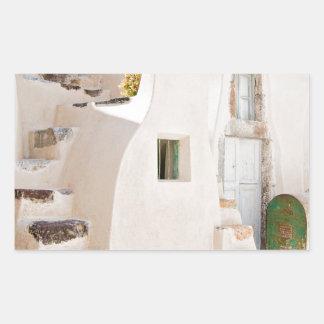 Adesivo Retangular Casa em Santorini