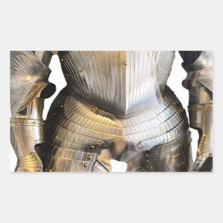 Adesivo Retangular Cavaleiro #2