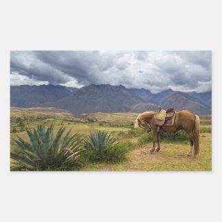 Adesivo Retangular Cavalo sagrado verdejante do vale