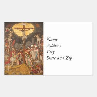 Adesivo Retangular Cena 1711 da crucificação