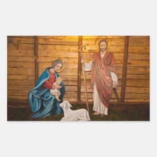 Adesivo Retangular Cena da natividade