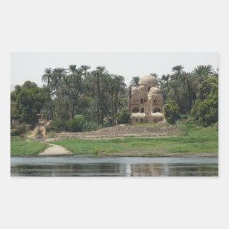 Adesivo Retangular Cena de Nile do rio