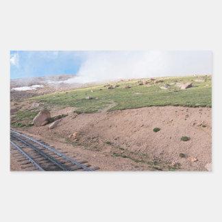 Adesivo Retangular Cenário ao longo da estrada de ferro de roda