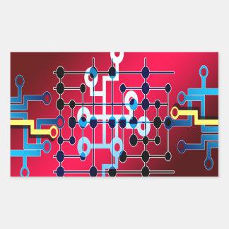 Adesivo Retangular cente do controle de traço dos circuitos do
