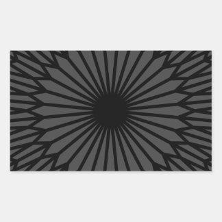 Adesivo Retangular Chakra escuro