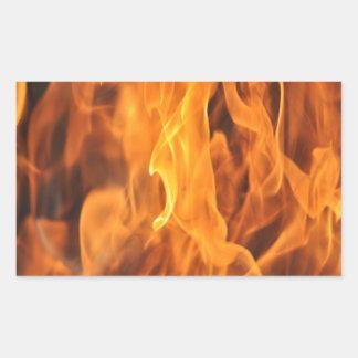 Adesivo Retangular Chamas - demasiado quentes a segurar
