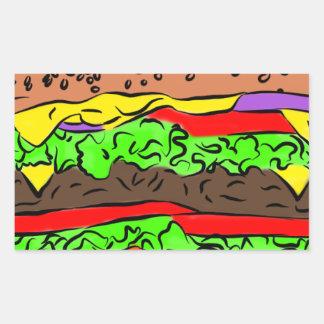 Adesivo Retangular Cheeseburger