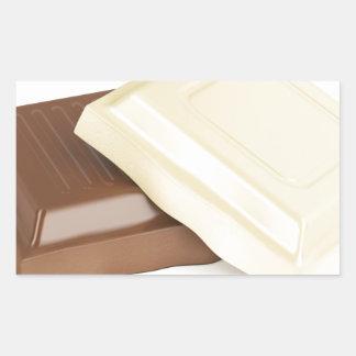 Adesivo Retangular Chocolate branco e marrom