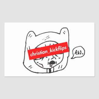 Adesivo Retangular christian_kickflips