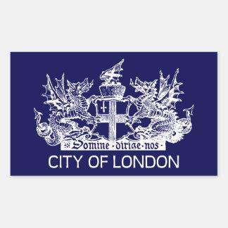Adesivo Retangular Cidade de Londres, vintage, brasão, Inglaterra